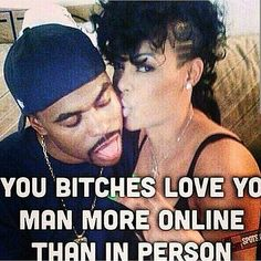 True statement. Why I'm still single. Females want to take 1000 pictures for Facebook and Instagram spend all day trying figure out what chick likes your post... But be serving you cold food. Beefing while u at work. Smh. They want the perfect online relationship not the perfect offline shit.