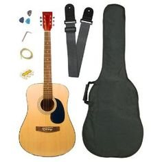 Barcelona Full Size Acoustic Guitar with Free Carrying Bag and Accessories - Natural --- http://www.amazon.com/Barcelona-Acoustic-Guitar-Carrying-Accessories/dp/B000EWYBR2/?tag=melprofitblog-20