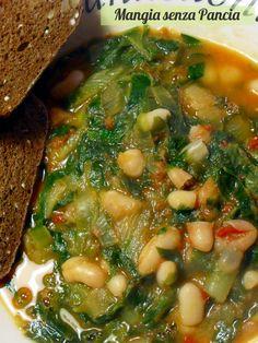 Fagioli e Scarole leggeri, ricetta vegetariana, Mangia senza Pancia