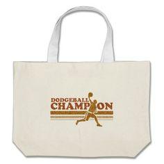 Vintage Dodgeball Champion Canvas Bag