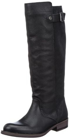 Tommy Hilfiger Women's Hudson Washed Black Riding Boots