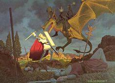 Éowyn and the Witch King. :  El Jinete Negro emergió de la carroña, alto y amenazante. Con un grito de odio que traspasaba los tímpanos como un veneno, descargó la maza. El escudo se quebró en muchos pedazos, y Eowyn vaciló y cayó de rodillas: tenía el brazo roto. El Nazgül se abalanzó sobre ella como una nube; los ojos le relampaguearon, y otra vez levantó la maza, dispuesto a matar.  Pero de pronto se tambale&