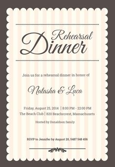 34 Best Rehearsal Dinner Invitations Images Dinner Party