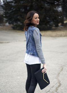 leather leggings, denim jacket -www.lovelucygirl.com