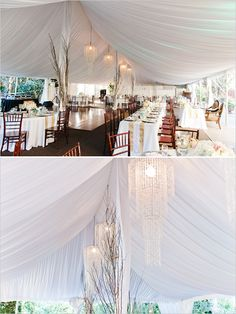 elegant tent wedding reception ideas