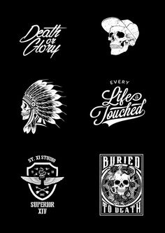 Skulls and Typos on Behance