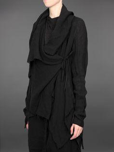 Sweater amorfo negro calientito sin tejidos Aleksandr Manamis
