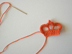 Broche Corona en Crochet. Tutorial