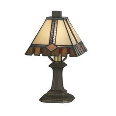 """Found it at Wayfair - Castle Cut Mini 11"""" H Table Lamp with Empire Shade"""