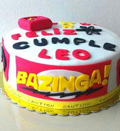 Torta temática Bazinga.Maricarmen's cakes online Store. 991526566.