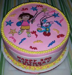 Dora the Explorer cake. Adorable and delicious! ! Deb's :)