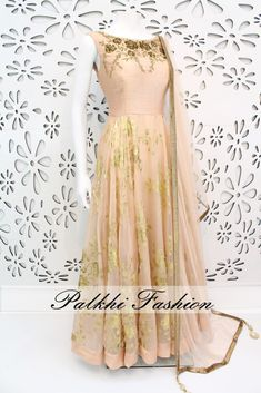 PalkhiFashion Exclusive Full Flair Light Peach Outfit With Elegant Embossed Work