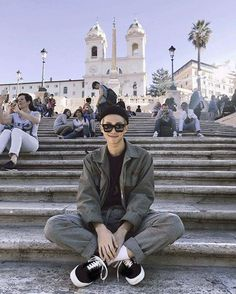 BTS Namjoon RapMonster RM in rome << I'm european, this is probably the closest I'll ever be to him Jimin, Bts Bangtan Boy, Bts Boys, Kim Namjoon, Seokjin, Hoseok, K Pop, Tumbrl Boy, Taehyung