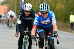 Nick Nuyens with Tom Boonen during Dwars Door Vlaanderen.