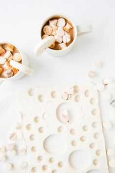 Recipe for salted caramel hot chocolate from scratch (and homemade salted caramel marshmallows)