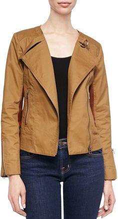 Bagatelle Cotton Canvas Moto Jacket on shopstyle.com