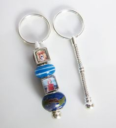 European Photo Bead Key Chain - shop to buy bits and bobs to make photos into jewelry.