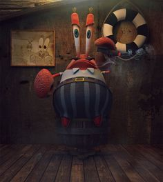 MR.KRABS, Jonas Schlengman on ArtStation at https://www.artstation.com/artwork/mr-krabs