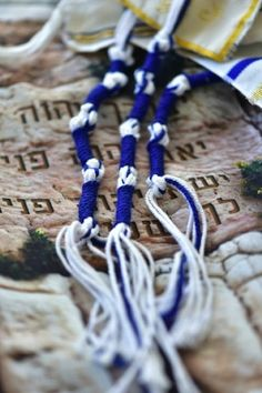 Knot Just Another String Theory · Mini Manna Moments Jewish Crafts, Jewish Art, Jairus Daughter, Arte Judaica, Messianic Judaism, Biblical Hebrew, Everything Is Connected, Prayer Shawl, Apocalypse