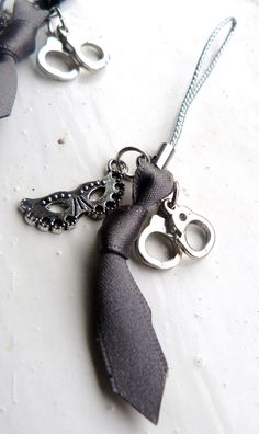 50 Shades Of Grey Inspired Zip Pull Charm. £3.00, via Etsy.