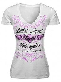 "Women's ""I Always Come First"" Tee by Lethal Angel (White)"