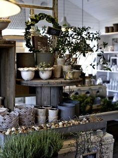 Lovely garden display. Anyone know where to get small electrical spools?