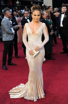 Jennifer Lopez at the 2012 Oscars - The Most Daring Oscar Dresses - Photos