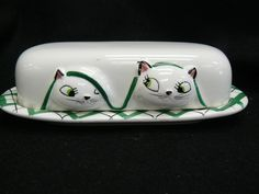 Holt Howard kittens butter dish