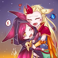 Xayah & Rakan: lovers and rebels by sakimichan | Шая и Рэйкан #vastaya #вастайи @League of Legends | Лига Легенд #LoL #ЛоЛ #love