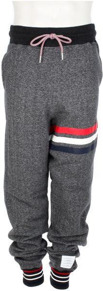 Thom Browne Cotton Fleece Grey Sweatpants in Gray for Men (grey)