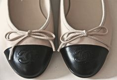 Chanel two-toned ballet flats - great with my yoga clothes!