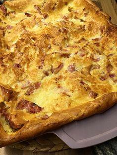 Godaste ugnspannkakan med bacon