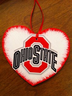 Ohio State OSU Buckeyes Ornament or gift tag FREE personalization by HeavenlyDesigns1 on Etsy, $6.00
