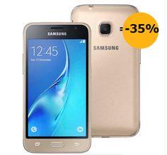 """Smartphone Samsung Galaxy J1 Mini Duos Dourado com Dual Chip, Tela 4.0"""", 3G, Câmera de 5MP, Android 5.1 e Processador Quad Core de 1.2 GHz http://compre.vc/v2/21907fb88a8"""