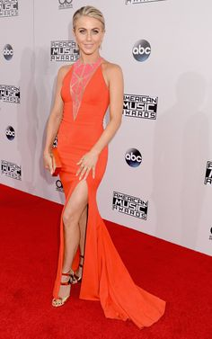 Pin for Later: Look Who Brought the Glamour to the American Music Awards Julianne Hough Julianne was another star who got in on the slit trend in a tangerine-hued Zuhair Murad gown.