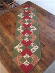 Christmas patchwork table runner