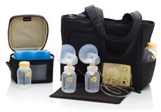 Medela breast pump...must have if your baby struggles to latch.