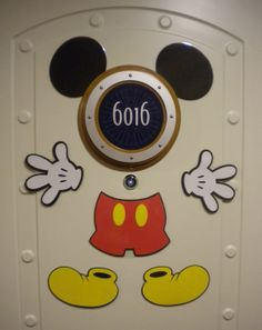 Mickey Mouse Part Magnets - Great for Decorating Your Stateroom Door on Your Next #DisneyCruise via etsy