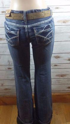 Amethyst Jeans Slim Boot Cut Low Rise Destroyed Jeans SZ13 Juniors ...