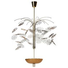 Snowflake Chandelier By Paavo Tynell Furniture Decor, Modern Furniture, Contemporary Lamps, Ceiling Lamp, Light Decorations, Vintage Designs, Rattan, Snowflakes, Butterflies