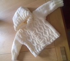 Baby's first hoodie knitting project by Christine G