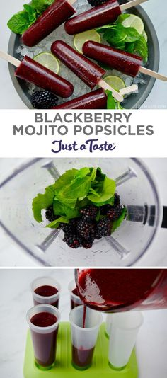 Drink your cocktail and eat it too with Blackberry Mojito Popsicles! These easy booze popsicles are made with just five simple ingredients. Healthy Burger Recipes, New Recipes, Healthy Food, Yummy Drinks, Delicious Desserts, Brunch Drinks, Best Homemade Burgers, Mojito Recipe, Blackberry Recipes