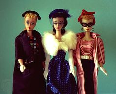 Original Barbies dressed in outfits Easter Parade, Gay Parisienne and Roman Holiday.