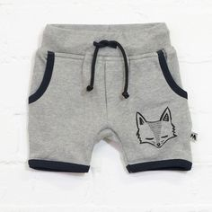 100% Organic Cotton Shorts. These adorable little black and grey shorts are available in sizes 1, 2, 3 and 4.