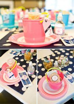 A girly nautical birthday party