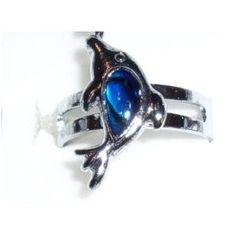 Paua Shell Silver Dolphin Ring