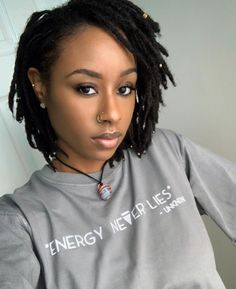 The Home of Locs — The first step in loving yourself is accepting who. Dreads Styles For Women, Short Dreadlocks Styles, Short Locs Hairstyles, Short Dreads, Dreadlock Styles, Twist Hairstyles, African Hairstyles, Curly Hair Styles, Natural Hair Styles