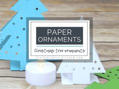 Paper Christmas Tree Ornaments - The Kitchen Table Classroom Tabletop Christmas Tree, Christmas Crafts For Kids, Simple Christmas, Christmas Tree Ornaments, Christmas Ideas, Kitchen Ornaments, Xmas Tree, Christmas Art, Winter Christmas