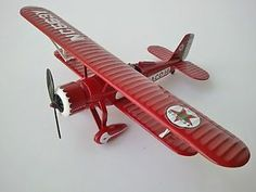 Ertl Texaco 14 Die Cast Biplane Airplane Bank