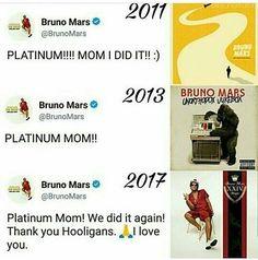 いいね!144件、コメント2件 ― Bruno Mars Brasilさん(@brunomars_hooligans0810)のInstagramアカウント: 「Repost: @ohmarsgod - So proud of my baby @brunomars Credits: @daddy.mars.hernandez #Alê」